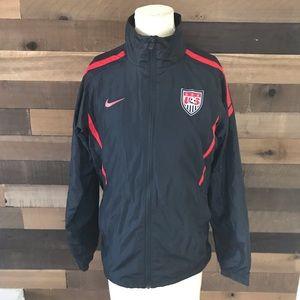 Usmnt USA soccer black windbreaker zip up jacket
